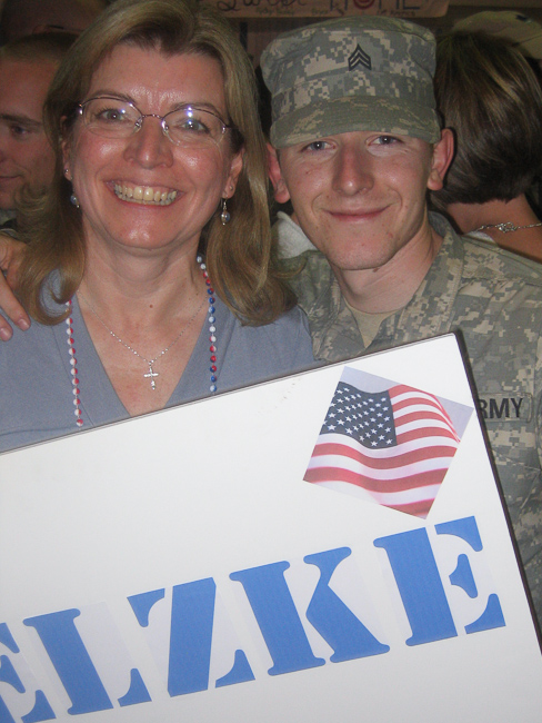 Ron and his mom when he returned home from the Army.